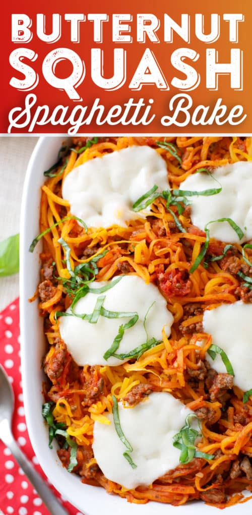 Butternut Squash Spaghetti Bake