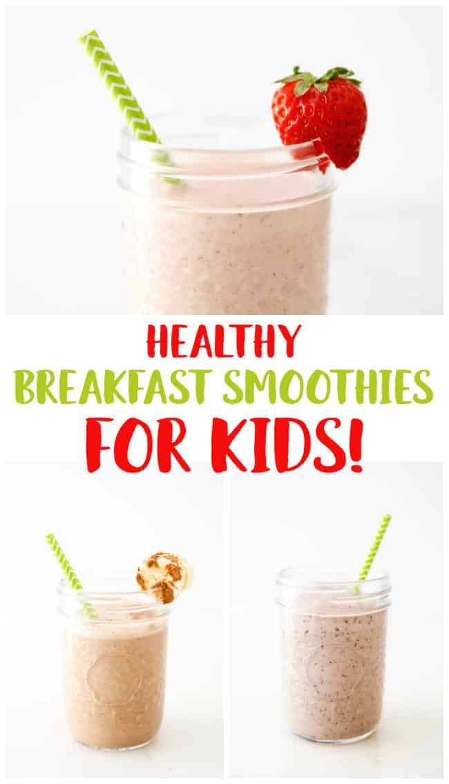 Healthy Smoothie Recipes for Kids - Easy gluten-free and dairy-free smoothies for kids.