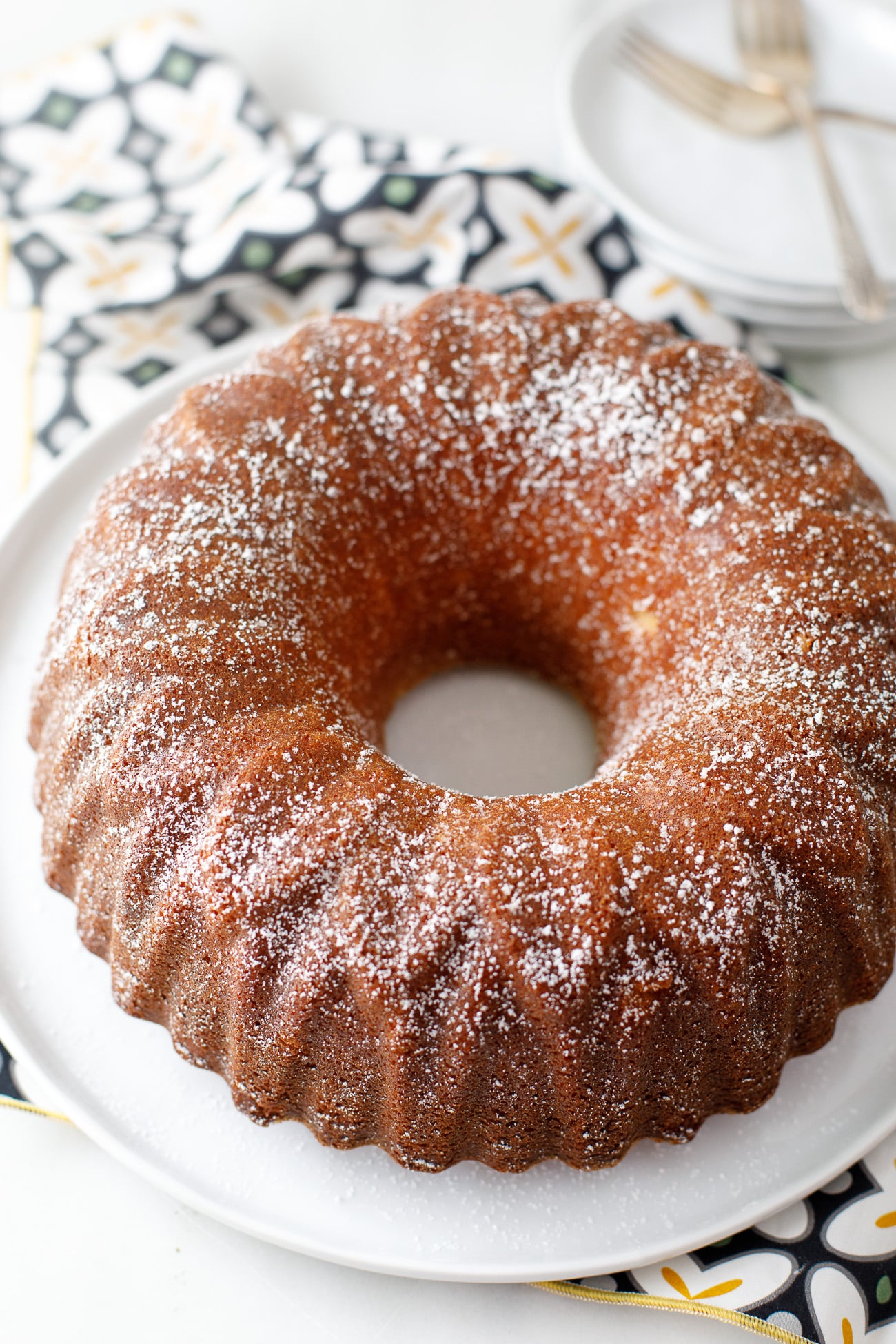 Buttermilk Pound Cake Recipe - this old fashioned buttermilk pound cake is made in a bundt cake pan and couldn't be more moist or delicious. It's SO GOOD. Definitely making this again.