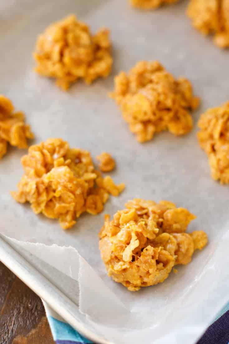 Corn Flake Cookies No Bake Peanut Butter Cornflake Cookies