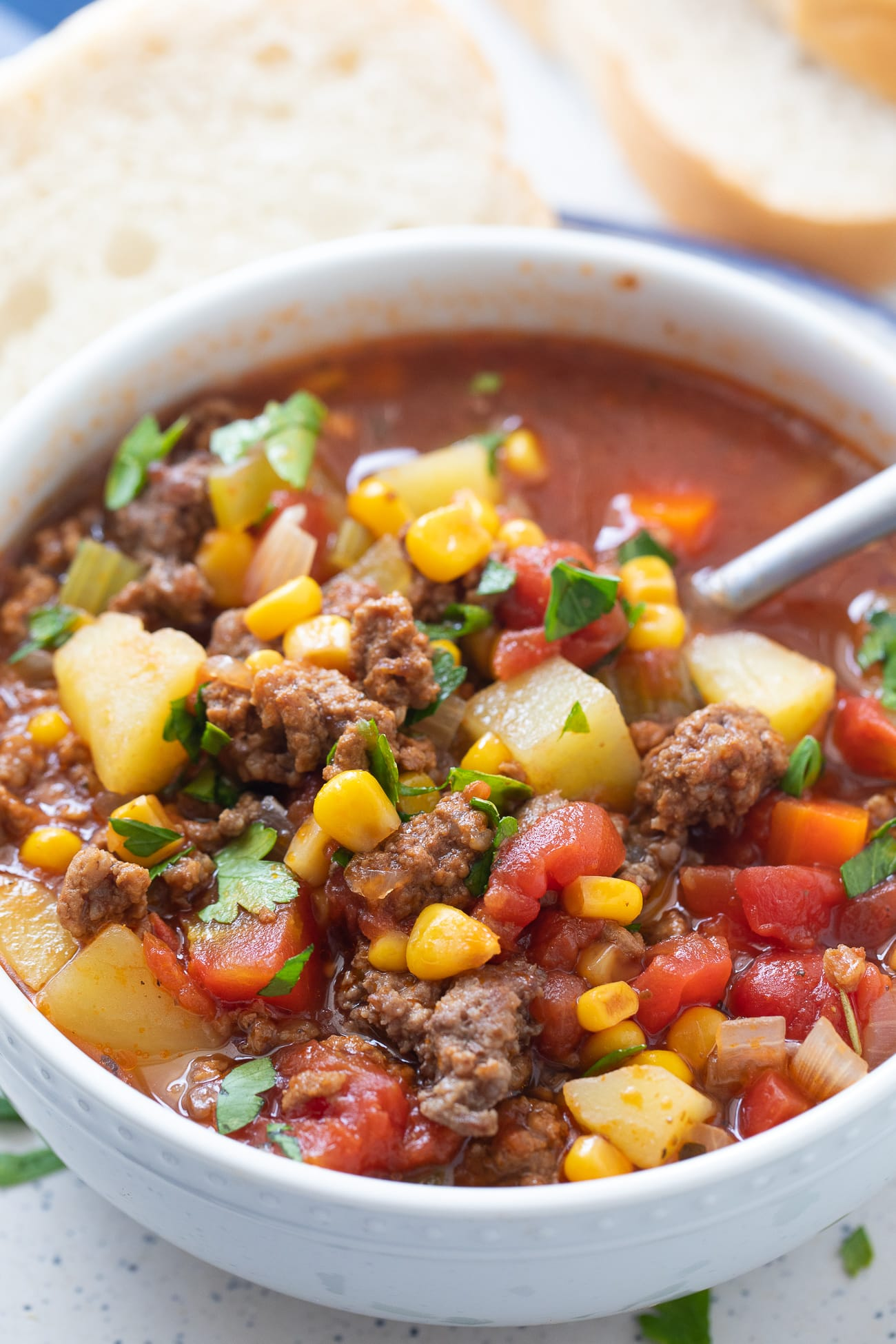 Vegetable Beef Soup Recipe With Ground Beef
