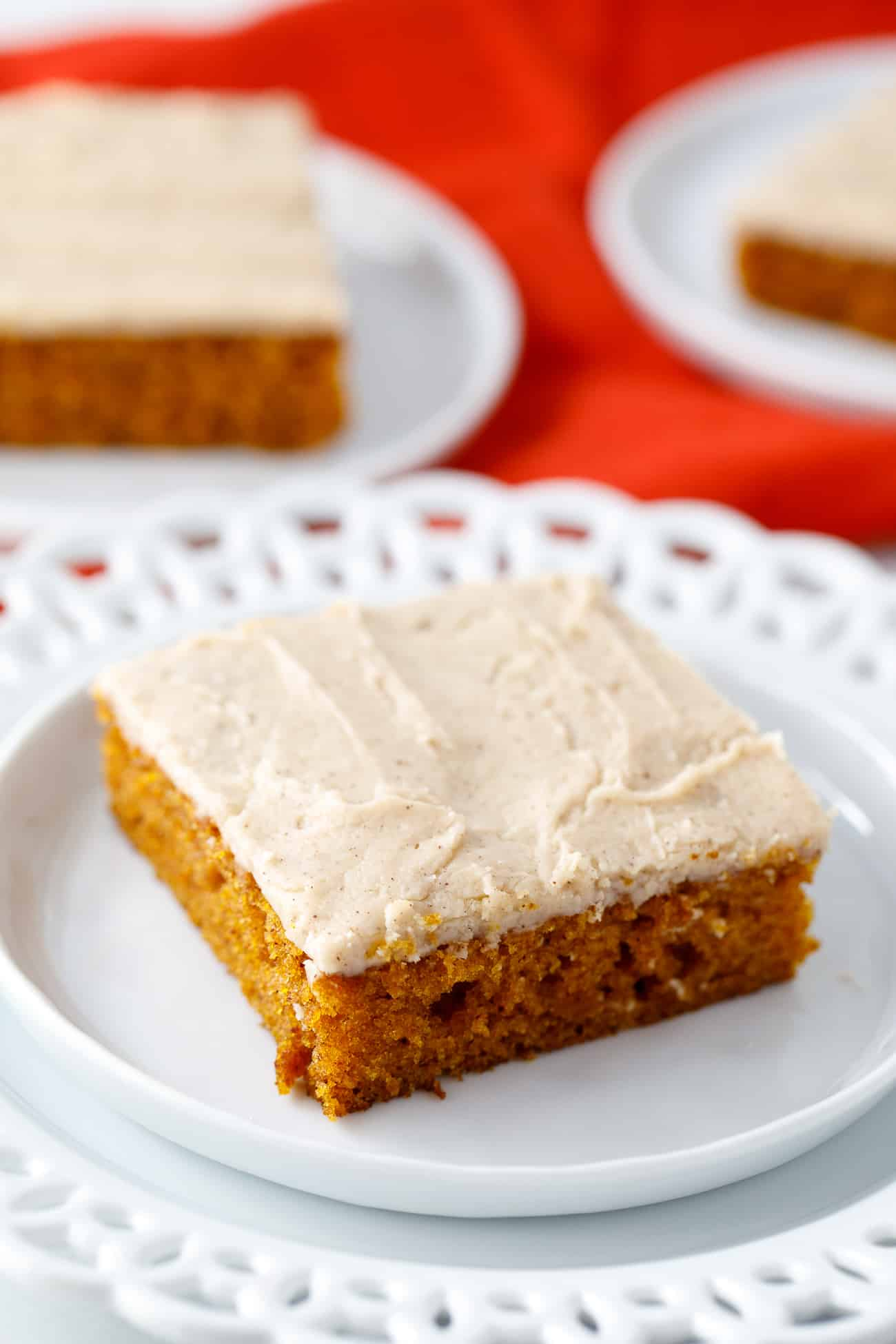 Pumpkin Sheet Cake - Texas Pumpkin Sheet Cake