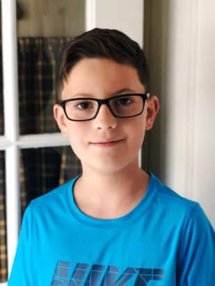Eye Health - Boy in glasses