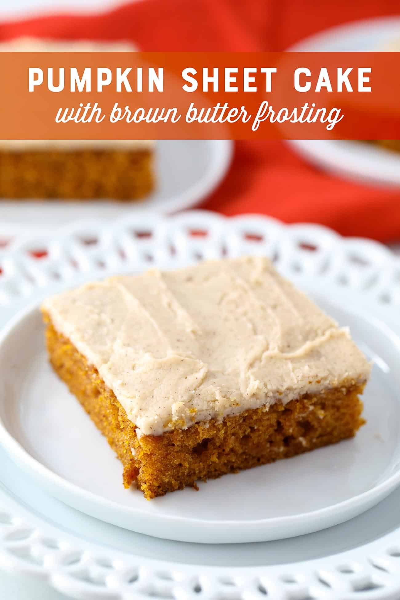 Pumpkin Sheet Cake with Brown Butter Frosting Recipe