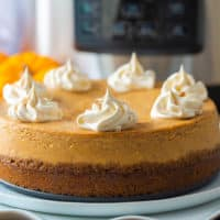 Pressure Cooker Pumpkin Cheesecake