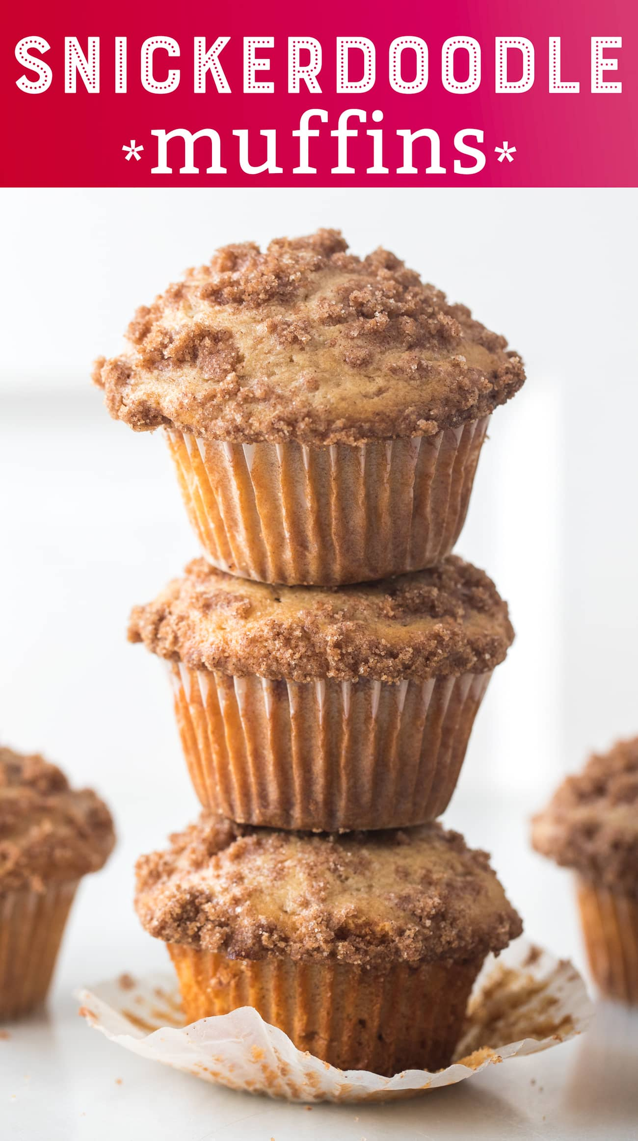 Snickerdoodle Muffins are moist, delicious, and perfect for the holiday season.