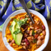 15 Bean Taco Soup
