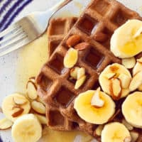 Non-Dairy Chocolate Protein Waffles