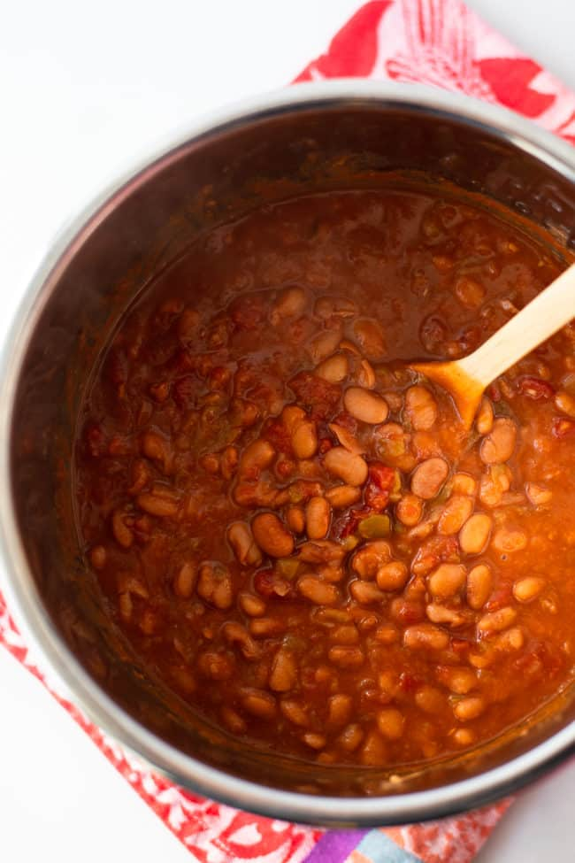 Instant Pot Mexican Pinto Beans Recipe - Easy Mexican pinto beans taste wonderful over rice!