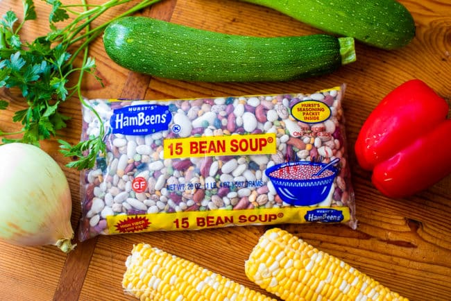 Instant Pot Summer Vegetable 15-Bean Soup