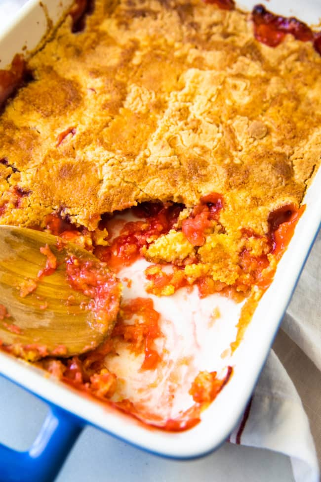 cherry pineapple cobbler