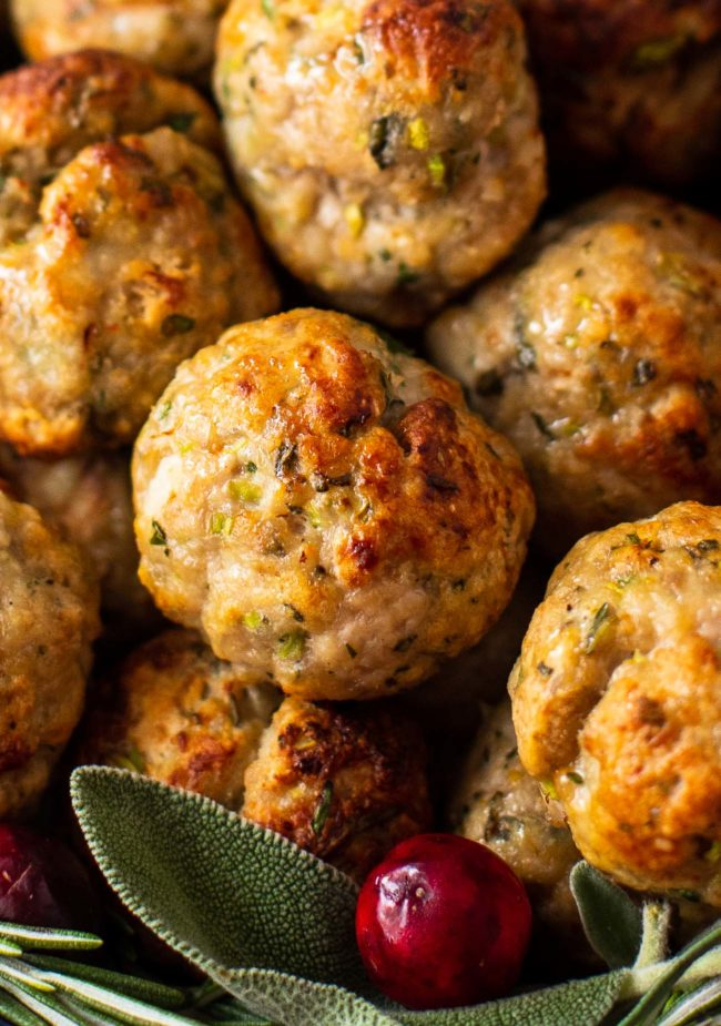 air fryer pork stuffing meatballs