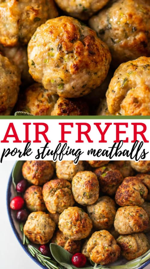 air fryer pork stuffing meatballs recipe