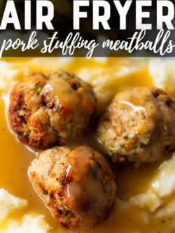 pork meatballs with gravy