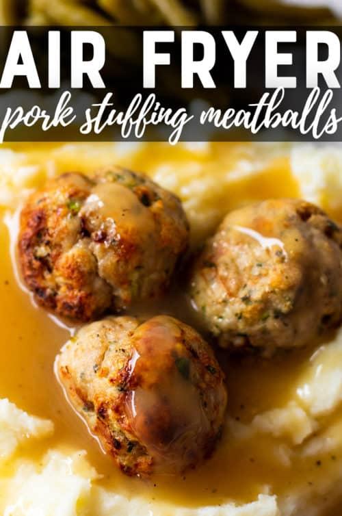 pork meatballs with gravy