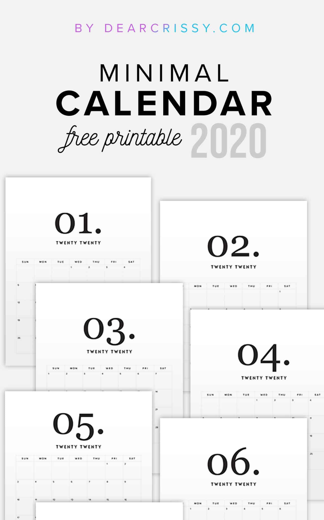 Mini Calendar Template from dearcrissy.com